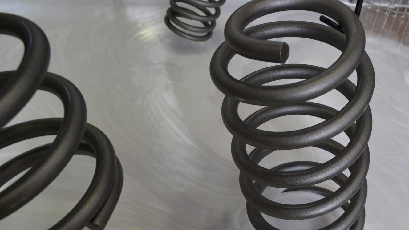 King Spring coils treated with phosphate coating