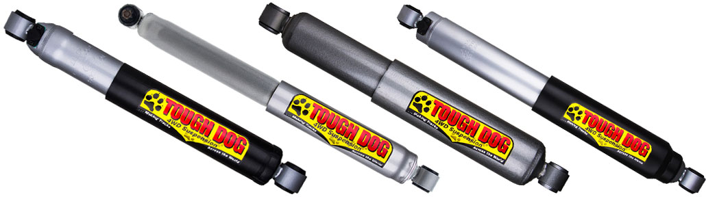Four types of Tough Dog shock absorbers