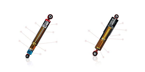 Mono-Tube and Twin-Tube Shock Absorber Diagrams